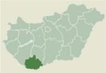 Locatie van Baranya