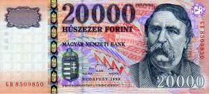 Biljet van HUF 20000 uit 1999