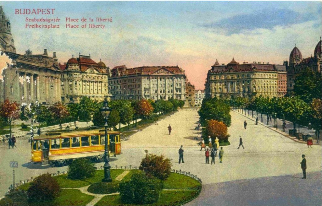 Vrijheidsplein Boedapest in 1912