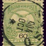 Turul op Hongaarse postzegel uit 1904